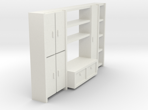 A 001 living wall Schrank cupboard HO 1:87 in White Natural Versatile Plastic: 1:87 - HO
