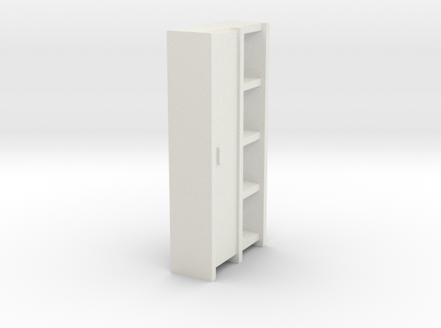 A 004 Schrank cupboard HO 1:87 in White Natural Versatile Plastic: 1:87 - HO