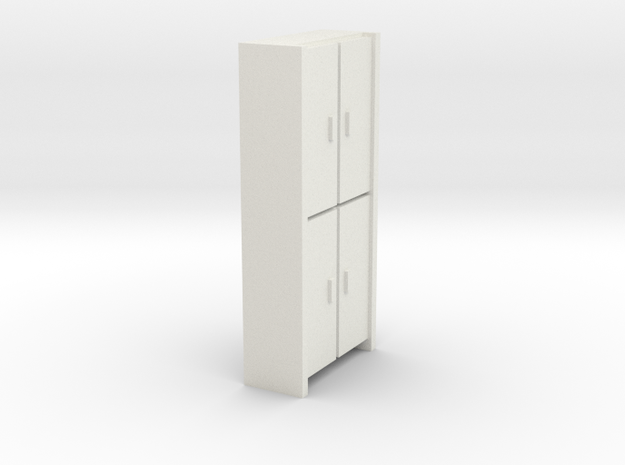 A 005 Schrank cupboard HO 1:87 in White Natural Versatile Plastic