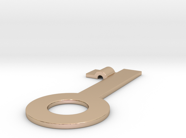 Key pendant in 14k Rose Gold Plated