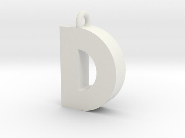 Alphabet (D) in White Strong & Flexible