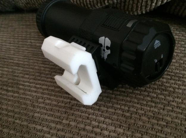 Call Of Duty Ghosts Camera Picatinny Mount in White Strong & Flexible