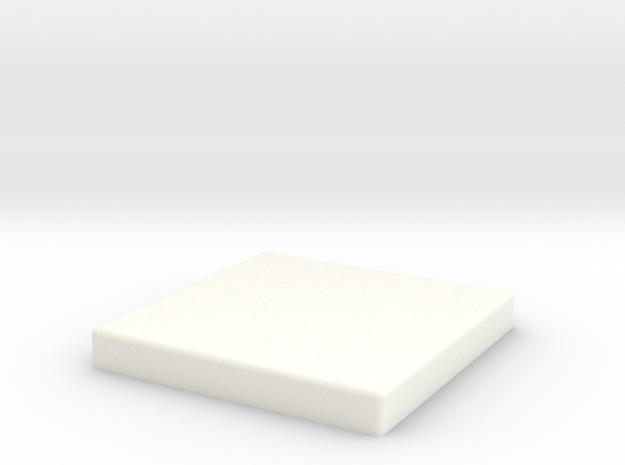 Tie pilot square tile Scaled 80% in White Processed Versatile Plastic
