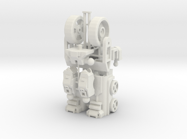 Customatron - Landformer - Base Kit in White Natural Versatile Plastic