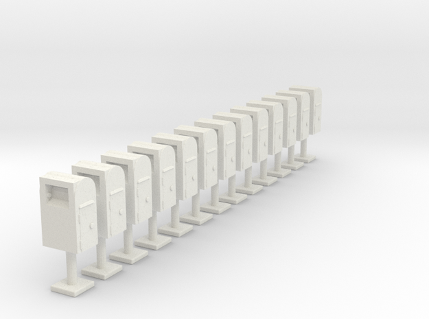 Postboxes Version 01 Scale HO in White Strong & Flexible