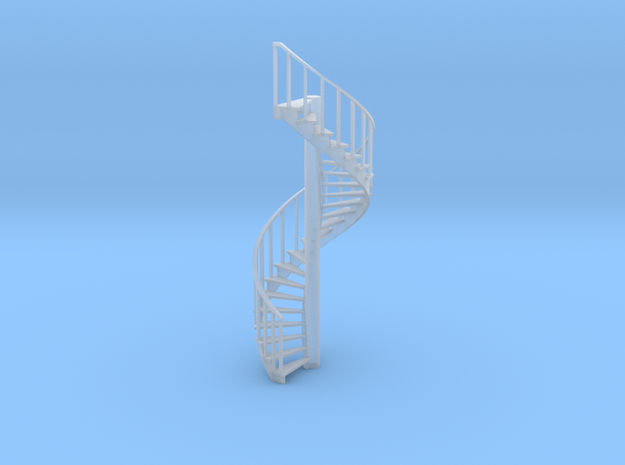 15' Spiral Stair Left Railing 1:48 in Smooth Fine Detail Plastic