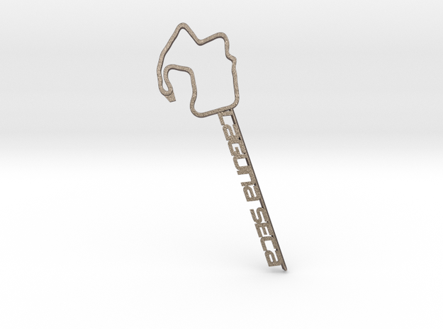 Laguna Seca Bottle Opener in Polished Bronzed Silver Steel