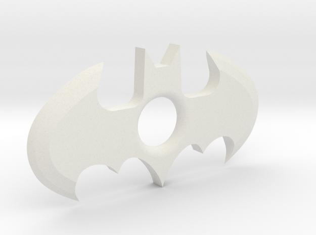 Throw-able Batman Logo (sharp) in White Strong & Flexible