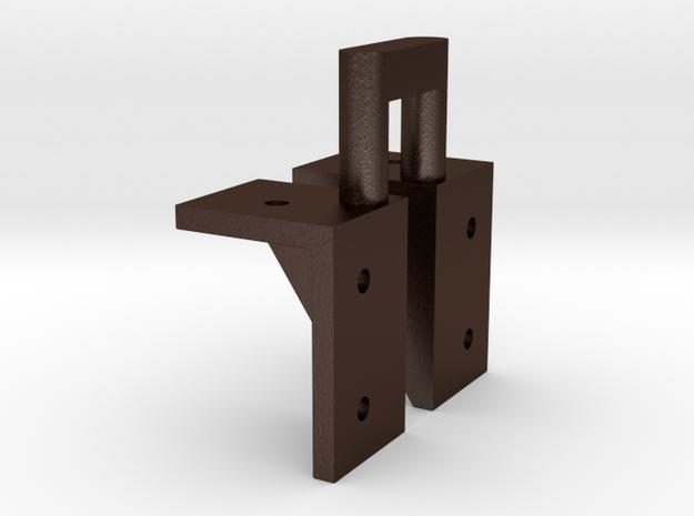 No. 23 Bracket #80662 R L .625 Plus 1% in Matte Bronze Steel
