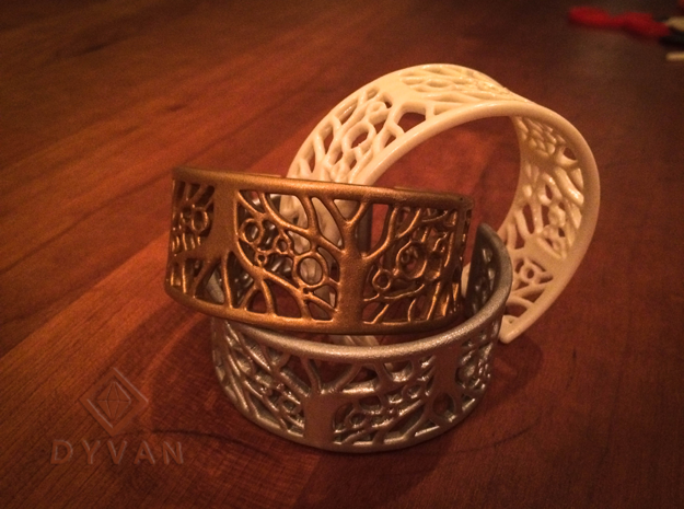 Tree of Life Bracelet 60mm in White Natural Versatile Plastic