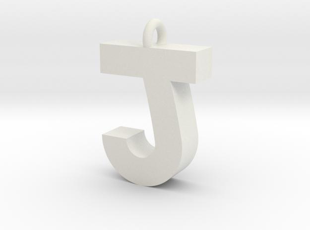 Alphabet (J) in White Strong & Flexible