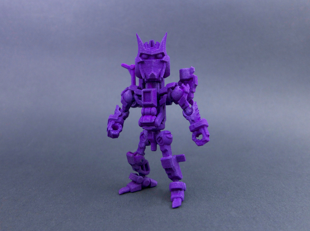 "Minibot ""Gunface"" in Purple Strong & Flexible Polished"