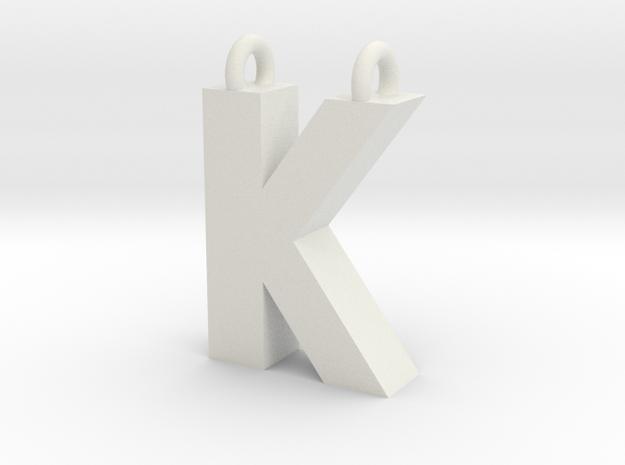 Alphabet (K) in White Strong & Flexible