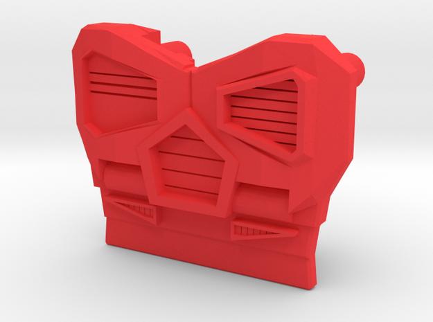 Medical Sportscar Femmebot Chest in Red Processed Versatile Plastic