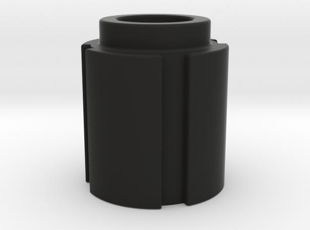 Trap Knob 1 in Black Natural Versatile Plastic