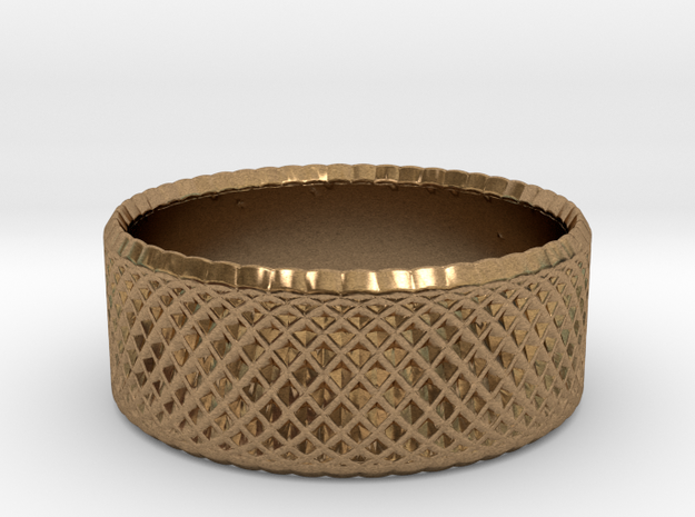 0194 Lissajous Figure Ring (Size0, 11.6mm) #005 in Natural Brass