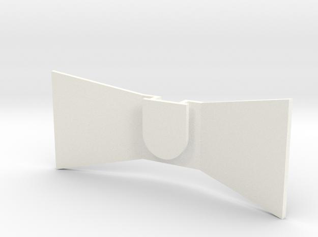 Tie in White Processed Versatile Plastic