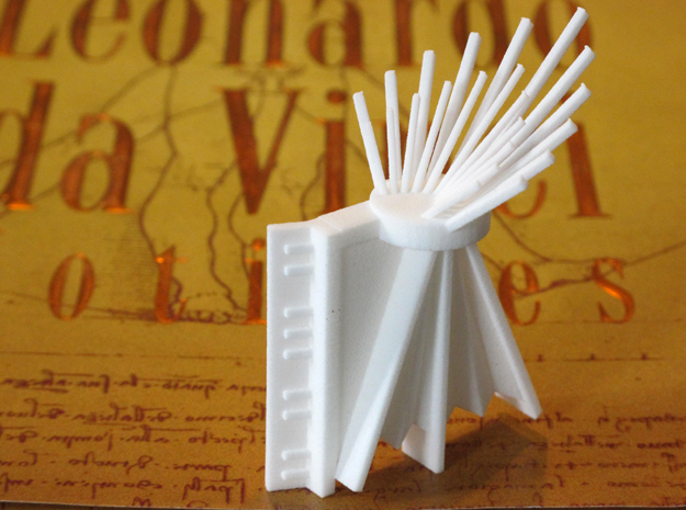 Da Vinci's Accordion  in White Natural Versatile Plastic