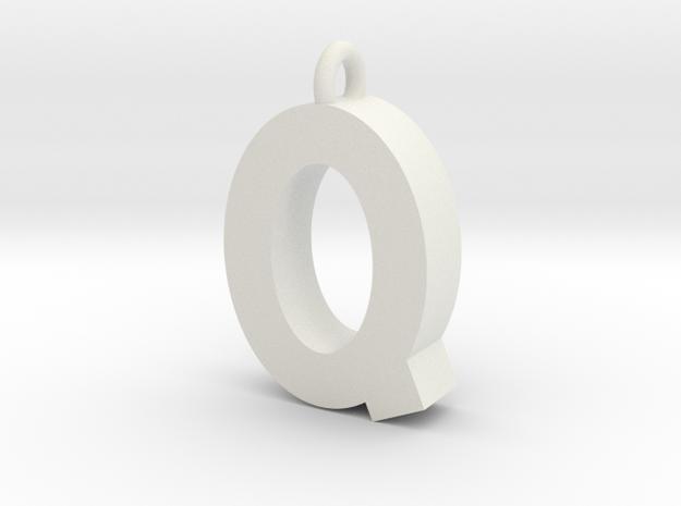 Alphabet (Q) in White Strong & Flexible