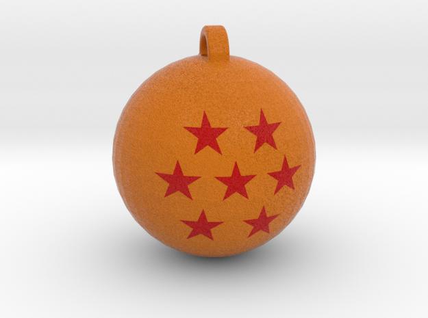 7 Stars Dragon Ball Necklace Pendant in Full Color Sandstone