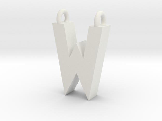 Alphabet (W) in White Strong & Flexible