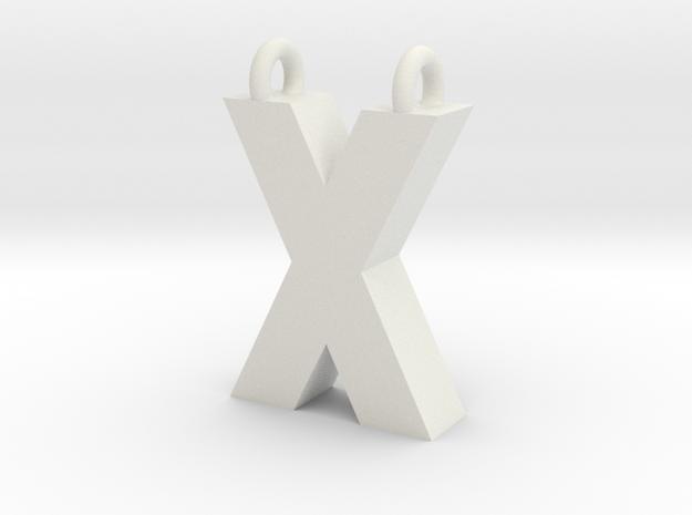 Alphabet (X) in White Strong & Flexible