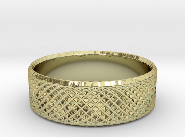0204 Lissajous Figure Ring (Size3, 14.0mm) #011 in 18k Gold Plated Brass