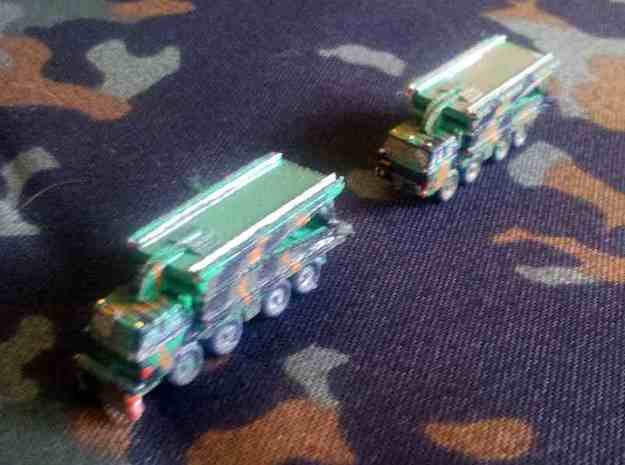 1/300 AM-50 Bridge on Tatra 813 x 2 3d printed Models printed in WSF and painted