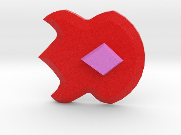 Volcano Badge - Pokemon Badges Kanto in Full Color Sandstone