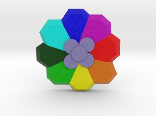 Rainbow Badge - Pokemon Badges Kanto in Full Color Sandstone