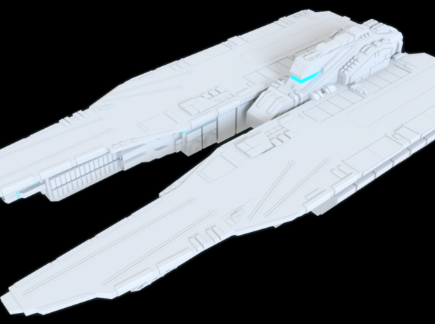Pegasus Class Carrier - Argama Prime in White Strong & Flexible Polished