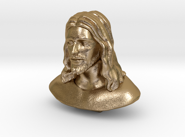 Jesus Christ (Matte - Polished Gold Steel) in Polished Gold Steel