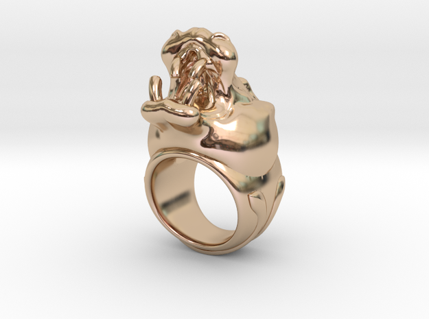 Hippopotamus ring
