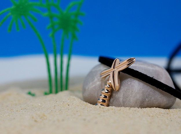 Palm Tree Pendant | Shut Up Cláudia! in 14k Rose Gold Plated Brass