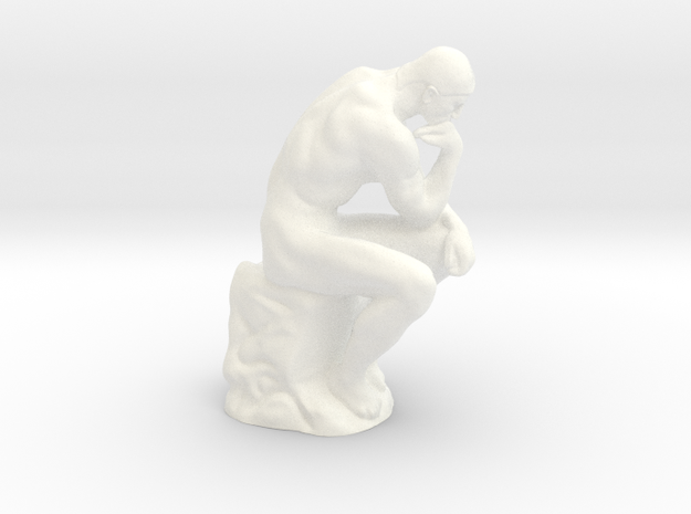 The Thinker - Antiques in White Processed Versatile Plastic