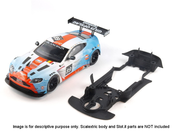 S07-ST1 Chassis for Scalextric Aston GT3 STD/LMP in White Natural Versatile Plastic