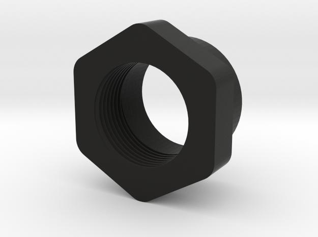 1251 Shock Spring Adjuster Nut in Black Natural Versatile Plastic