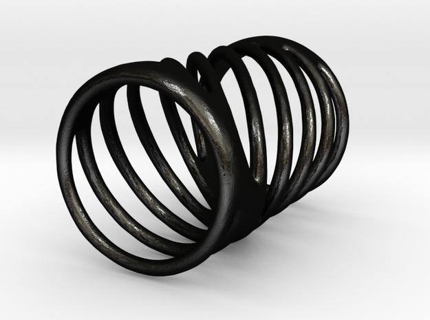 Ring of Rings No.7 in Matte Black Steel