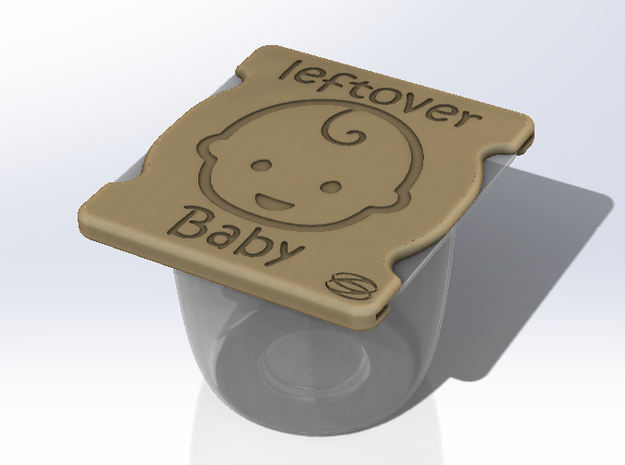 Baby - Leftover baby cover in White Strong & Flexible Polished