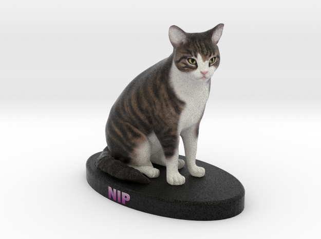 Custom Cat Figurine - Nip in Full Color Sandstone