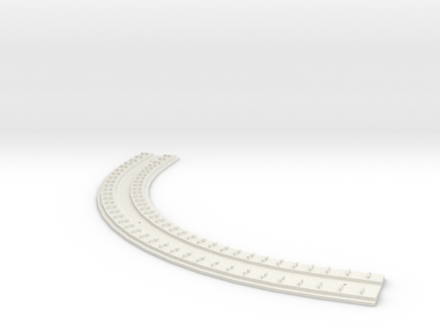 "HO Concrete Direct Fixtation 6"" Rad Track 90 degre in White Strong & Flexible"