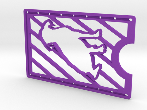 CardWallet Dog Left in Purple Strong & Flexible Polished
