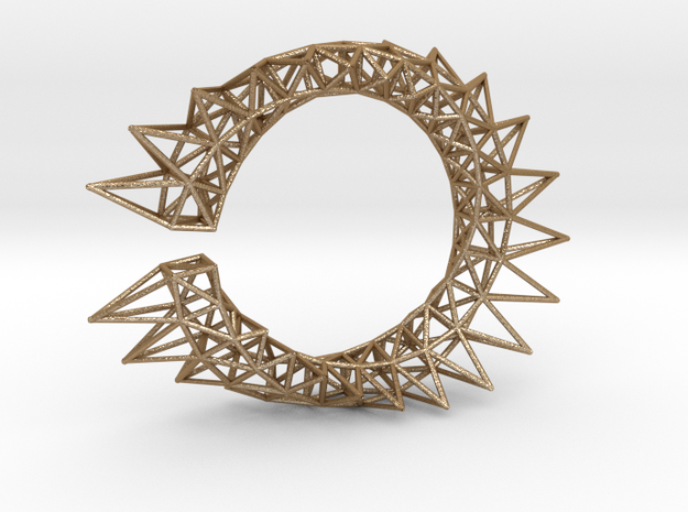 Spiked Twisted Bracelet01 3d printed