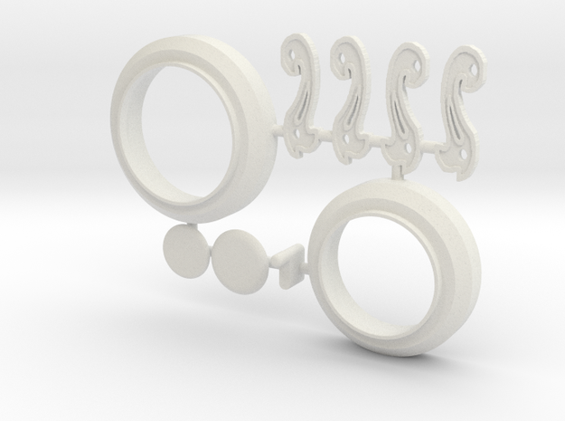 MPDA Iris-plugs & Connectors etc (Size 2) in White Strong & Flexible
