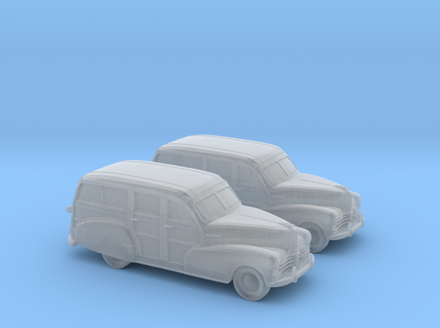 1/160 2X 1948 Chevy Woody in Smooth Fine Detail Plastic