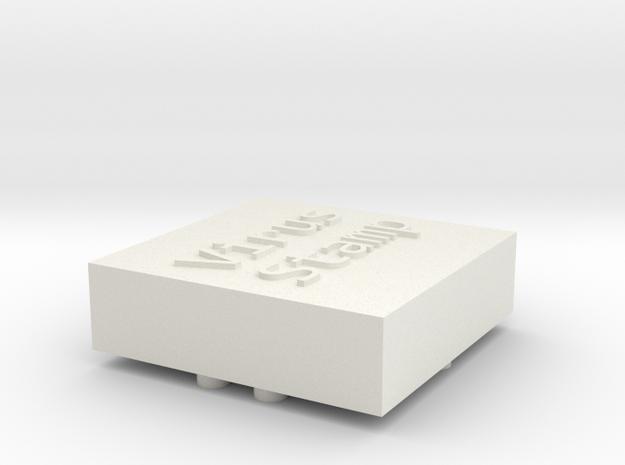 Virus Stamp in White Natural Versatile Plastic