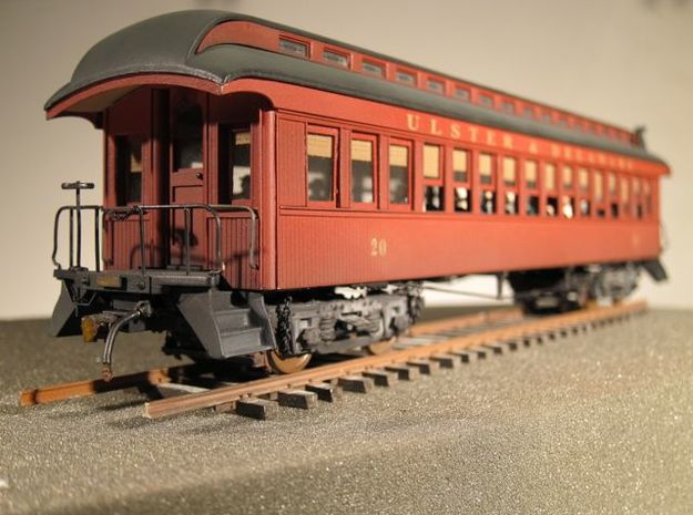 Wood Passenger Truck S Scale 1/64  in Frosted Ultra Detail