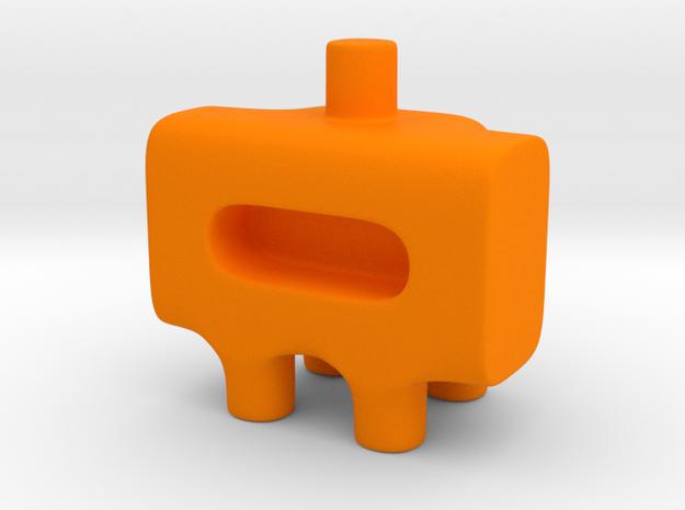 Tiny Astronaut Ugly Friend in Orange Processed Versatile Plastic