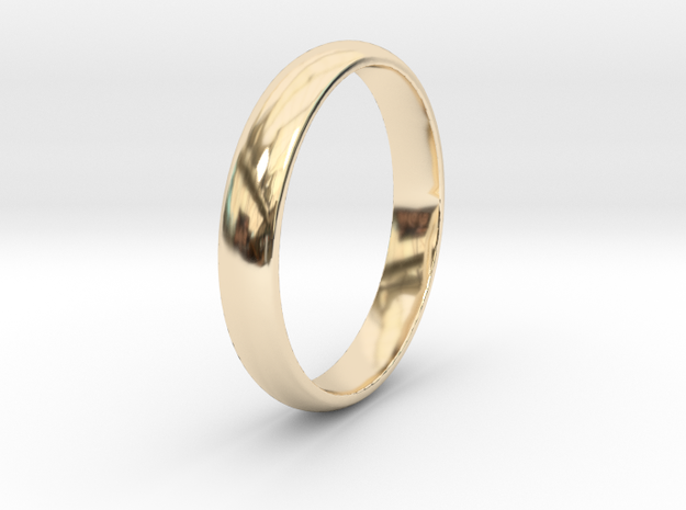 Ring Size 9 smooth in 14k Gold Plated Brass