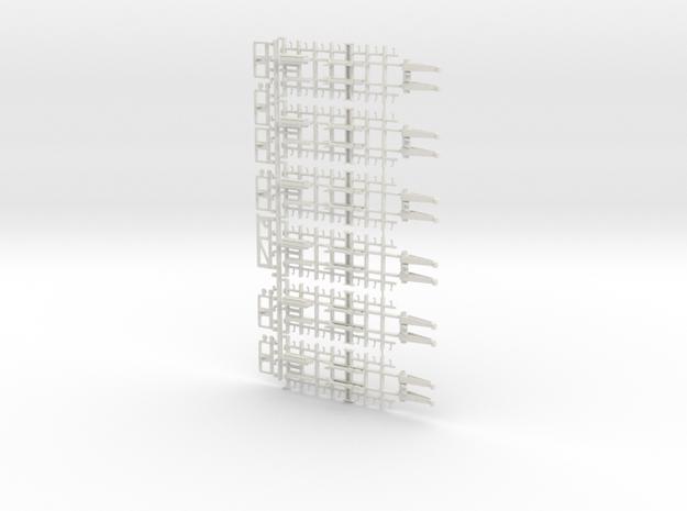 32-H0040: Jet Blast Deflector (6 panels), 1:32 in White Natural Versatile Plastic
